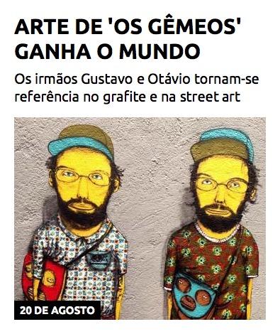 Arte de 'Os Gêmeos' ganha o mundo