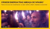 Crise de energia traz ameaça de 'apagão'