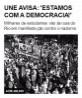 UNE avisa: 'estamos com a democracia!'
