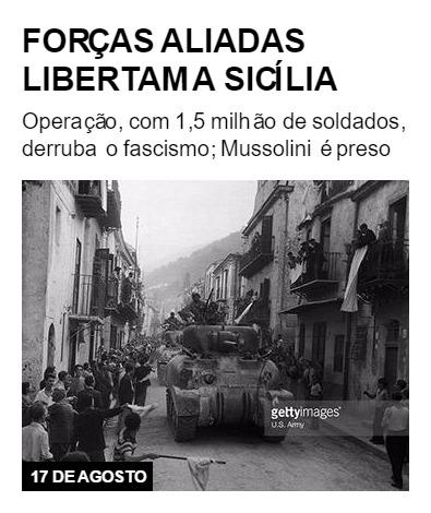 Forças aliadas libertam a Sicília