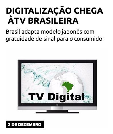 Digitalização chega à TV brasileira