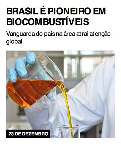 Brasil é pioneiro em biocombustíveis
