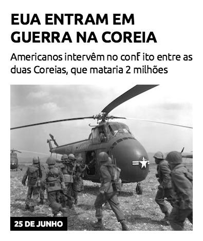EUA entram em guerra na Coreia