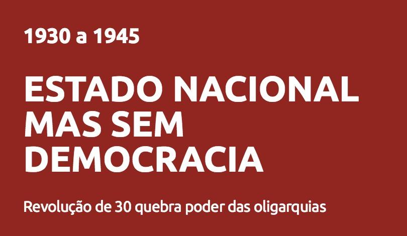 Estado Nacional mas sem democracia