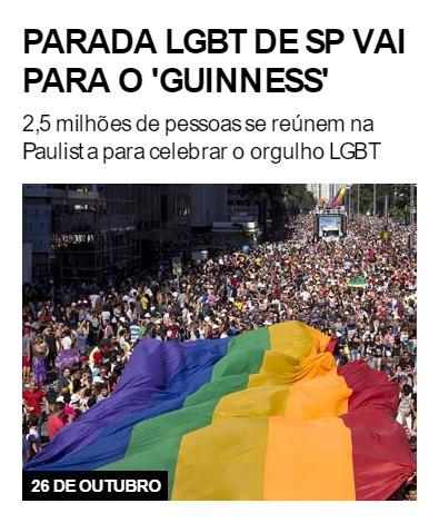 Parada LGBT de SP vai para o 'Guinness'