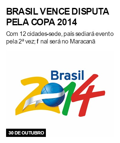 Brasil vence disputa pela Copa 2014