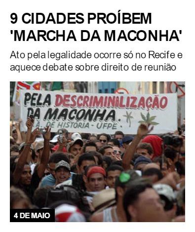 9 cidades proíbem 'Marcha da Maconha'