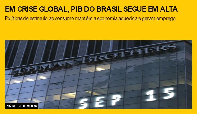 Em crise global, PIB do Brasil segue em alta