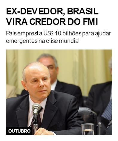 Ex-devedor, Brasil vira credor do FMI
