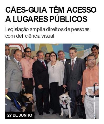 Cães-guia têm acesso a lugares públicos