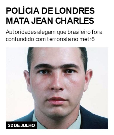 Polícia de Londres mata Jean Charles