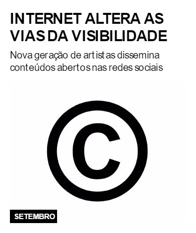 Internet altera as vias da visibilidade