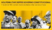 Golpe militar depõe governo constitucional