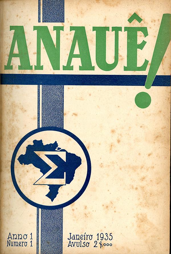 """Primeiro número da revista """"Anauê!"""", órgão oficial da Ação Integralista Brasileira"""