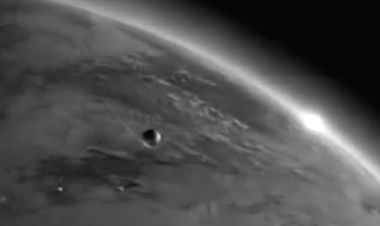 """O Sputnik-1 foi o primeiro satélite artificial a orbitar a terra. Trecho retirado do filme """"Launch of Sputnik-1"""" (1957)"""