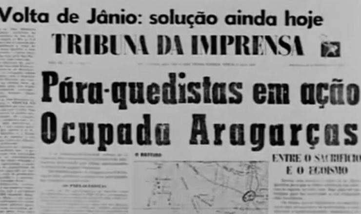 """O levante liderado por Haroldo Veloso realizou o primeiro sequestro de avião no Brasil. Trechos do documentário """"Os Anos JK: uma Trajetória Política"""" (1980), de Sílvio Tendler"""