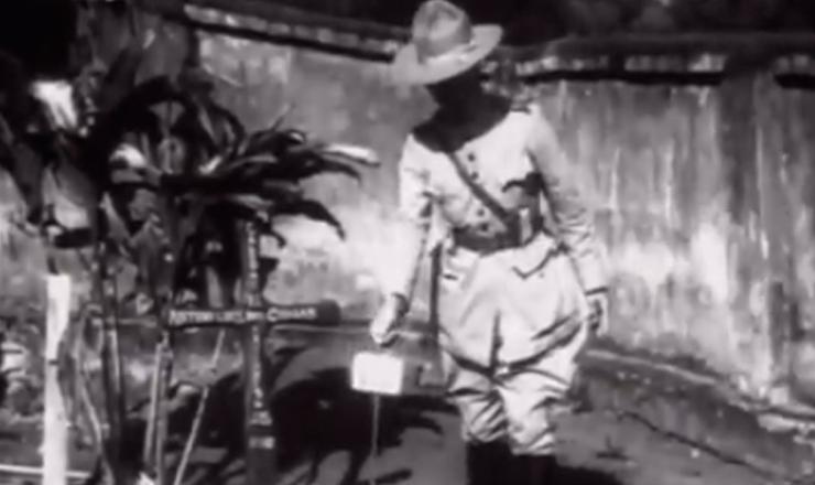 """Começa a reação governista  ao levante dos paulistas, sob o comando do general Góis Monteiro. Trecho do documentário""""1932: a Guerra Civil"""" (1993), de Eduardo Escorel"""