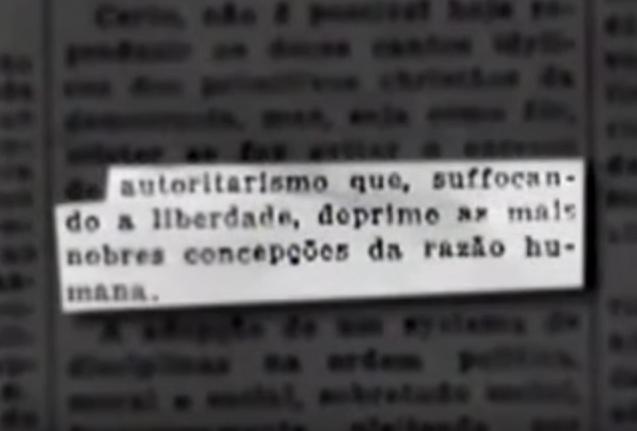 "Trecho de ""A Guerra dos Paulistas"" (2002), de Laís Bodanzky e Luiz Bolognesi, fala sobre a origem da revolta paulista"