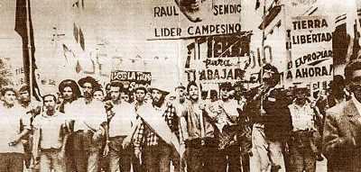 Manifestação dos Tupamaros, em Montevidéu. Crédito: Reprodução