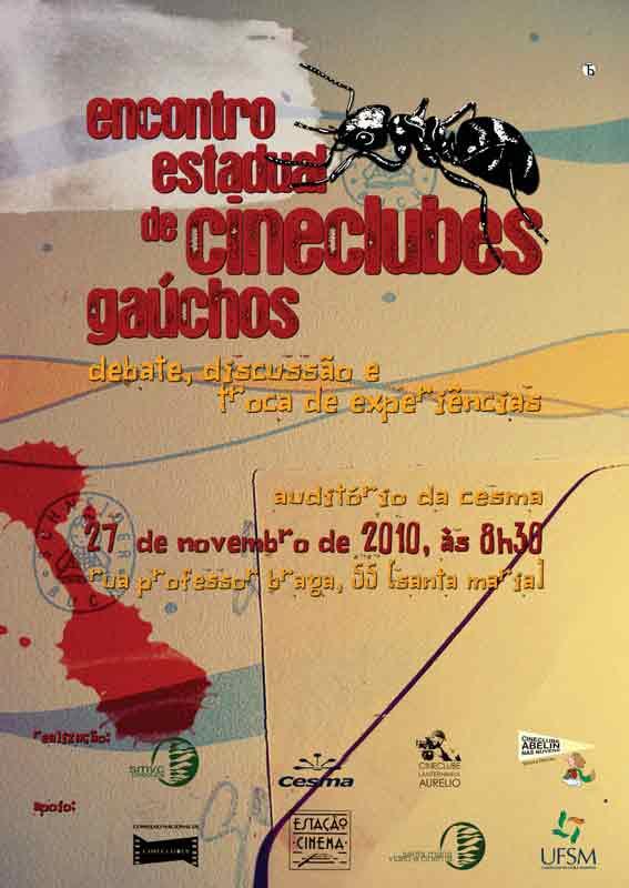 Cartaz de Encontro Cineclubes Gaúchos.