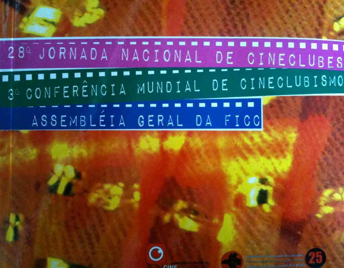 Cartaz da 28 a Jornada Brasileira de Cineclubes.