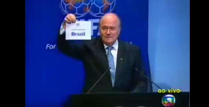 Notícia televisiva: Brasil é confirmado como sede da Copa de 2014