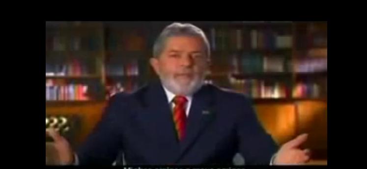 Trecho do pronunciamento em cadeia nacional do presidente Lula