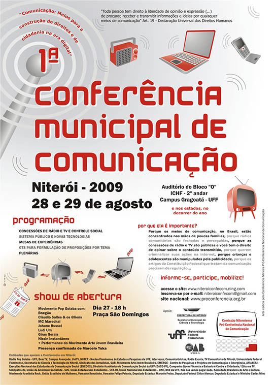 Cartaz da 1ªConferência Municipal de Comunicação de Niterói