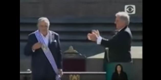 Trecho da solenidade de posse de Jose Mujica. Transmissão da TV uruguaia