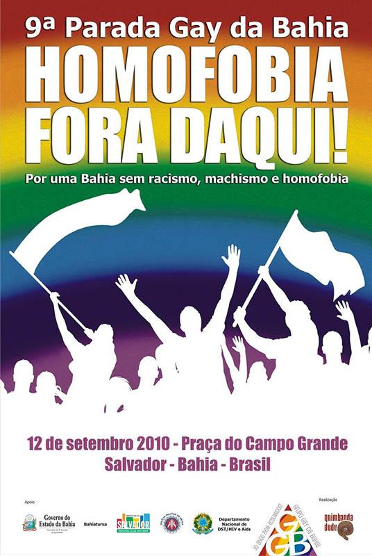 Cartaz 9 a Parada Gay da Bahia
