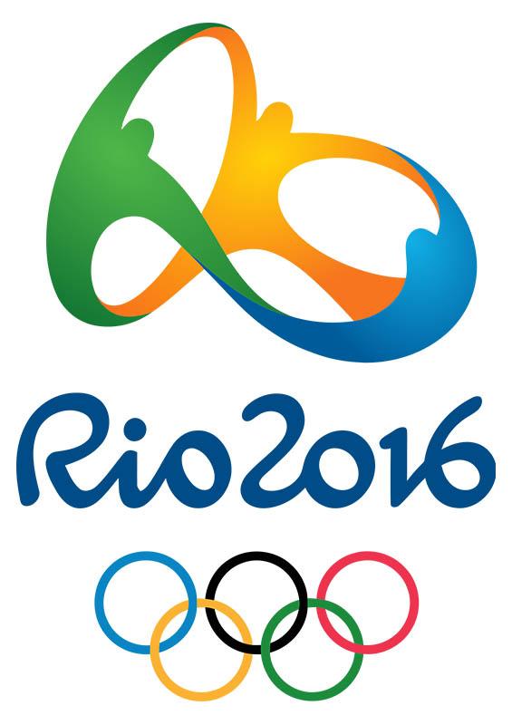 Logomarca oficial dos Jogos Olímpicos 2016, no Rio de Janeiro