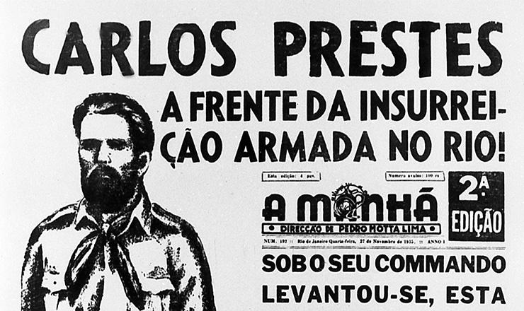 """Última edição do jornal """"A Manhã"""",  Rio de Janeiro, 27 de novembrode 1935"""