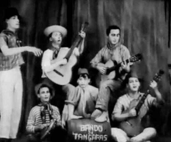 """Almirante canta """"Paraíba"""",  deHenrique Vogeler, Lamartine Babo e J. Menra, acompanhado do Bando de Tangarás"""