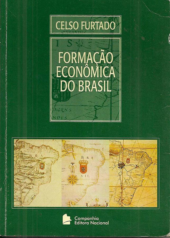 """Capa do livro """"Formação Econômica do Brasil"""" (1958)"""