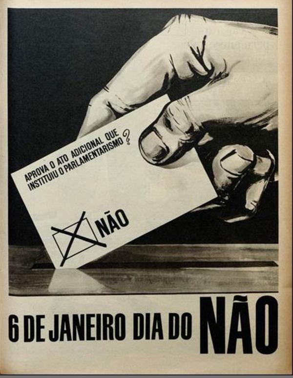 """""""6 de janeiro, dia do não"""",  na revista """"O Cruzeiro"""", edição de 22 de dezembro de 1962"""