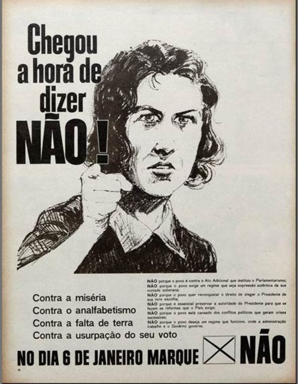 """""""Chegou a hora de dizer não"""", na revista """"O Cruzeiro"""", edição de 29 de dezembro de 1962"""