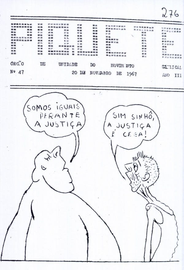 """Capa do jornal """"Piquete"""", edição de novembro de 1967"""