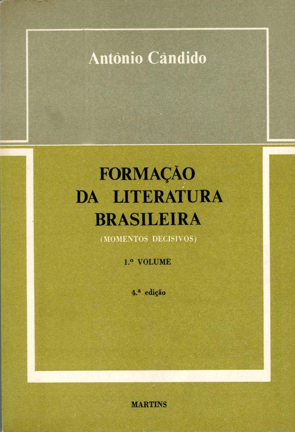 """Capa do livro """"Formação da literatura brasileira"""", de Antonio Candido"""