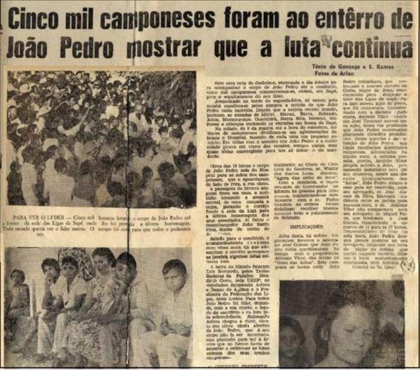 """Reportagem do jornal """"A União"""",  edição de 4 de abril de 1962"""