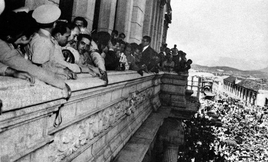 Palácio do governo guatemalteco após o golpe. (Foto: Reprodução)