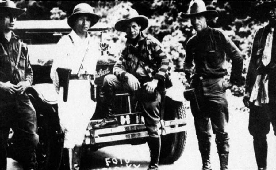 General César Sandino, no centro da foto, foi a maior inspiração para o surgimento da Frente Sandinista de Libertação Nacional. Crédito: Wikimedia Commons