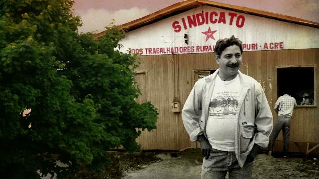 Trecho de vídeo de animação sobre a morte de Chico Mendes, que faz parte do projeto Caminhão Museu Sentimentos da Terra, parceria entre o Núcleo de Estudos Agrários e Desenvolvimento Rural (Nead), Projeto República/UFMG e Acasa
