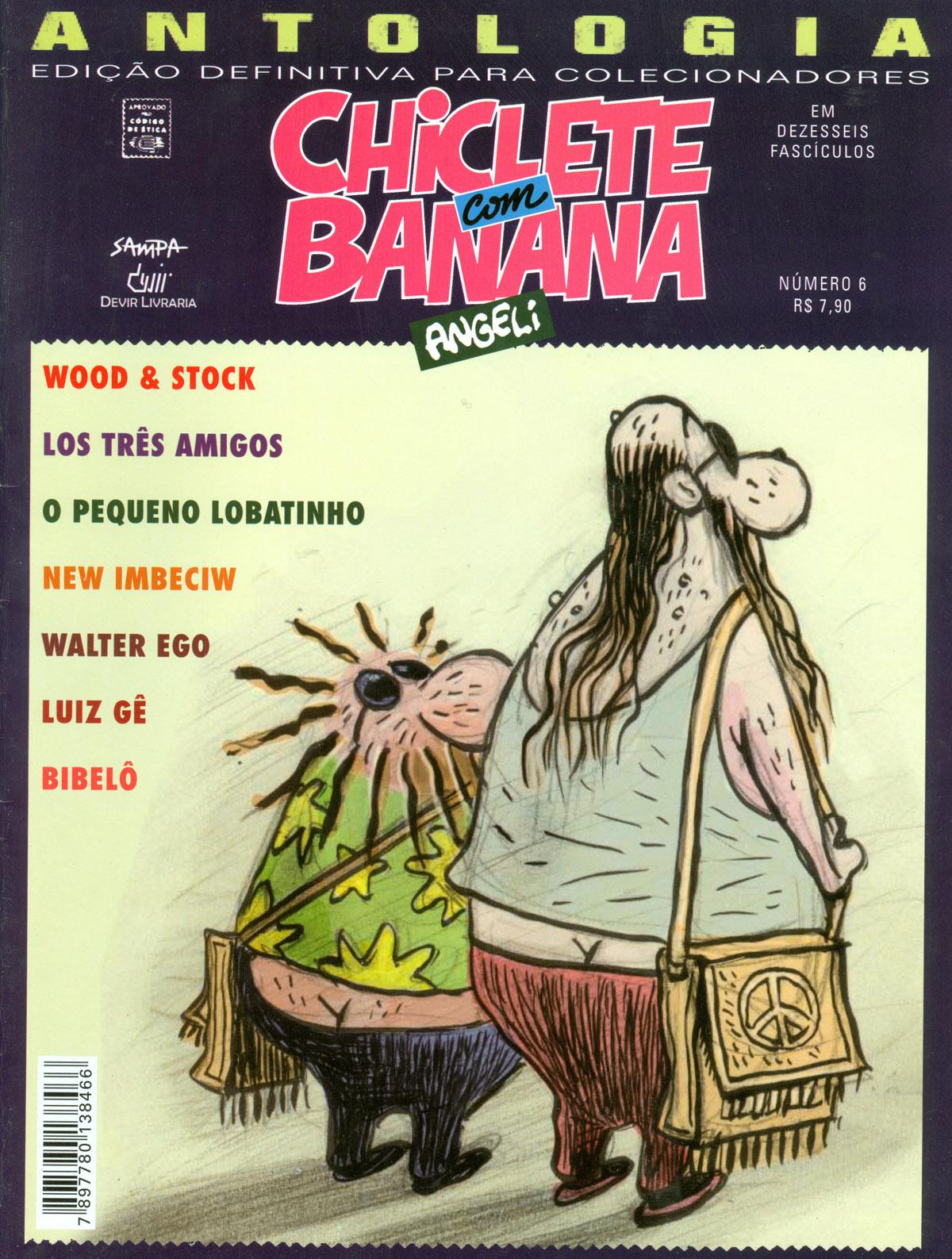 """Os personagens Wood & Stock na capa da edição n° 6 da revista """"Chiclete com Banana"""""""