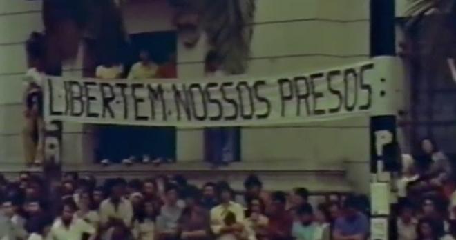 O filme foi produzido por estudantes da USP e exibido nas universidades de todo o país, apesar de ter sido proibido pelo governo