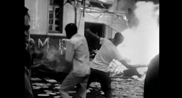 Documentário mostra cenas do incêndio no prédio da UNE e manifestações populares de apoio ao golpe militar
