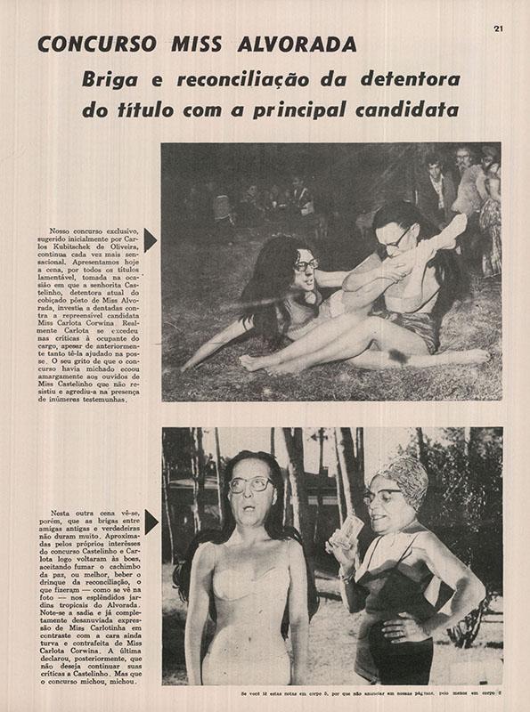 """A relação entre Carlos Lacerda e Castelo Branco é tratada com humor e ironia na fotopotoca de Ziraldo em """"Pif-Paf"""" nº 8, de 28 de agosto de 1964"""