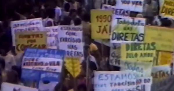 Passeatas e envolvimento popular e da classe artística marcaram a campanha das Diretas-Já