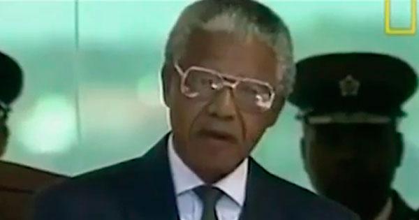O documentário feito para o canal NatGeo mostra a eleição e posse de Nelson Mandela na Presidência da África do Sul, em 1994