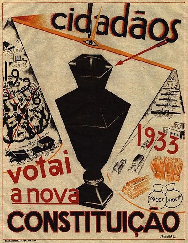 Cartaz de propaganda  do governo convocando para o plebiscito