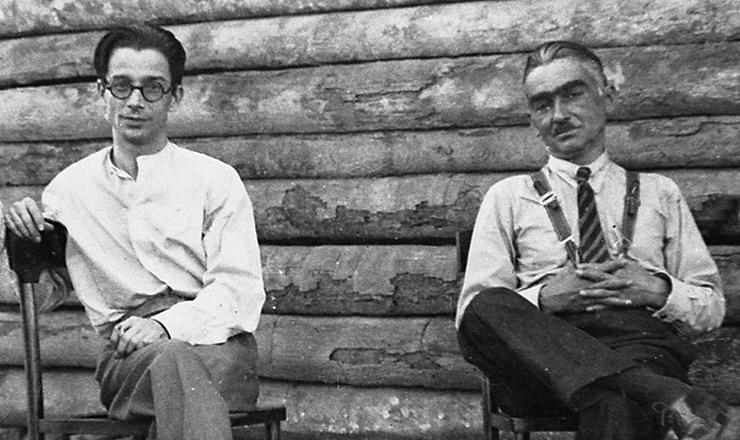<strong> Anísio Teixeira e Monteiro Lobato, </strong> em 1932